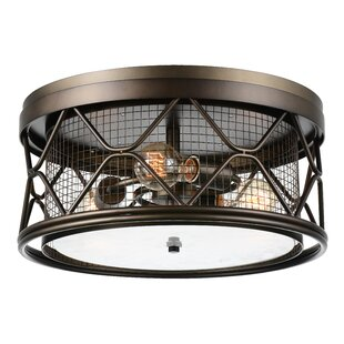 CWI Lighting Kali 3-Light Flush Mount