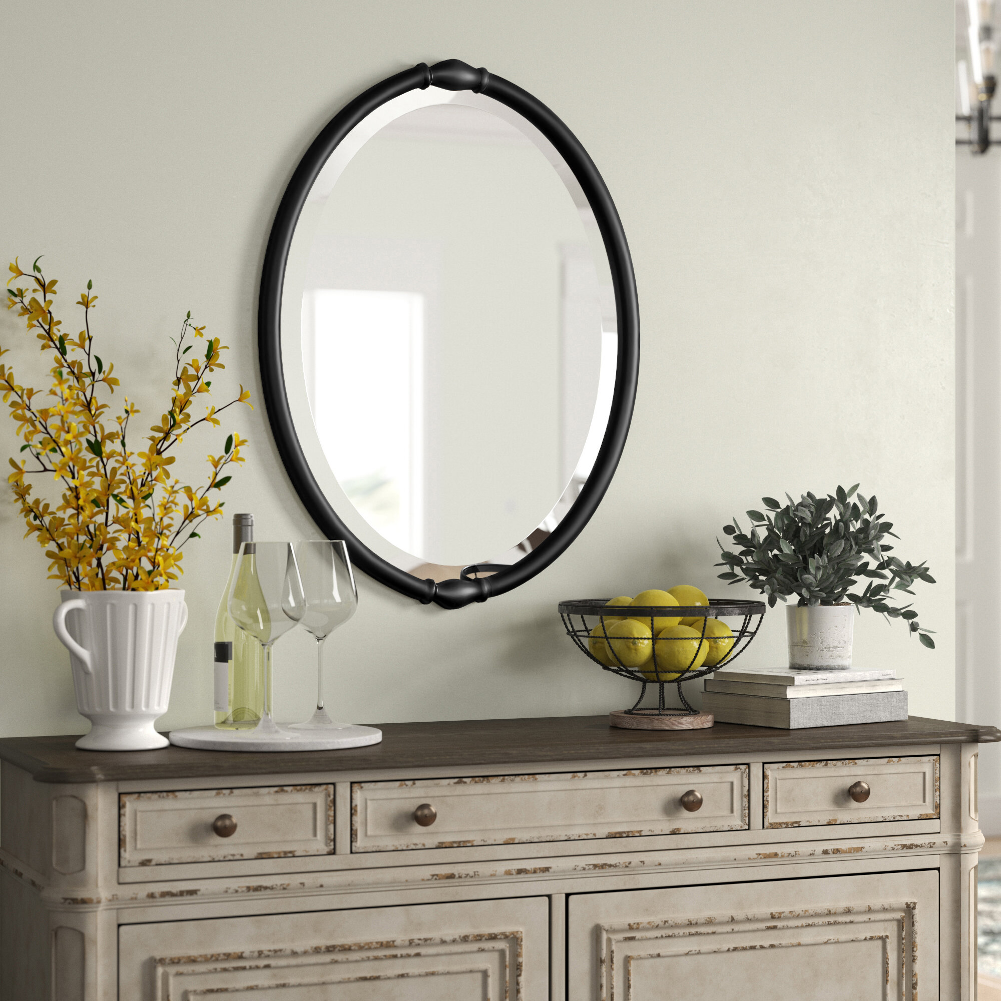 Canna Traditional Beveled Accent Mirror Reviews Birch Lane