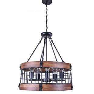 Williston Forge Paterson 5-Light Drum Chandelier