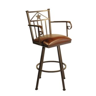 Andy 34 Swivel Bar Stool Millwood Pines