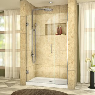 Unidoor Plus 44 x 72 Hinged Frameless Shower Door with Clearmax? Technology by DreamLine