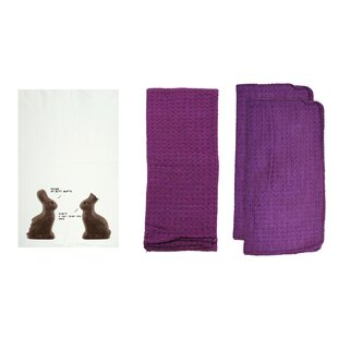 Personalized Chocolate Bunnies Dishcloth (Set of 8) by R&R Textile Mills Inc