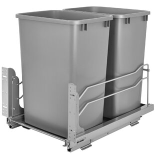 Plastic 8.75 Gallon Pull Out Trash Can