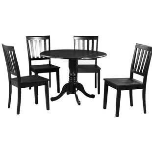 Shorewood 5 Piece Extendable Solid Wood Dining Set August Grove