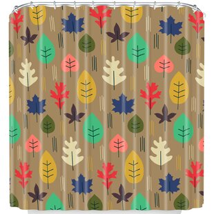Leaf It All Behind Single Shower Curtain by East Urban Home Best #1