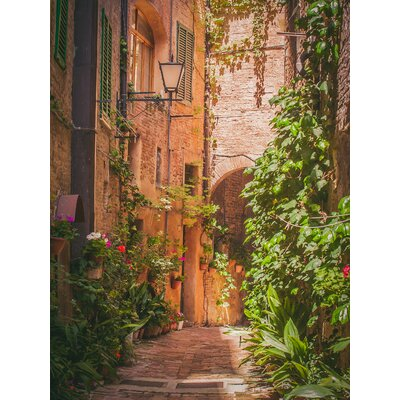 West of the Wind Outdoor Canvas Art Hidden Alley Framed Photographic Print on Wrapped Canvas