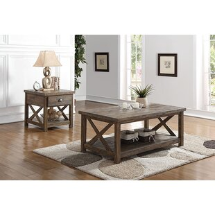 Loon Peak Clementina 2 Piece Coffee Table Set