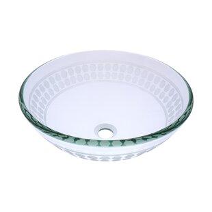 Imponeren Glass Circular Vessel Bathroom Sink Novatto