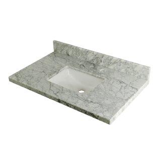 Great Price Carrara Marble 36 Single Bathroom Vanity Top ByKingston Brass