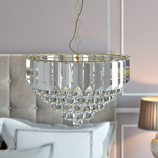 Pyrite 3-Light Crystal Chandelier