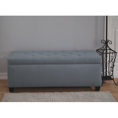 Winston Porter Paisleigh Upholstered Shoe Storage Bench Size: Small, Finish: Candice Bay Blue