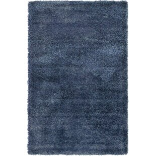 Evelyn Shag Navy Blue Area Rug