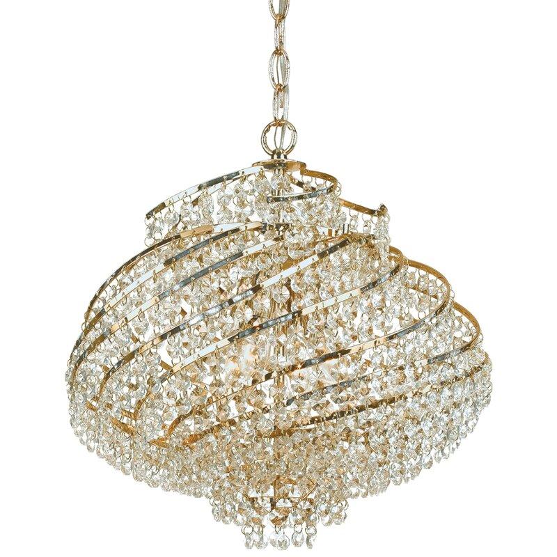 Af lighting lyric 4 light crystal chandelier reviews wayfair lyric 4 light crystal chandelier aloadofball Image collections