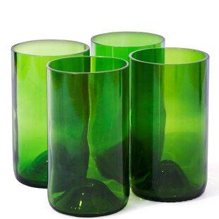 Wine Bottle 16 oz. Glass Tumbler Glass (Set of 4)