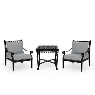 Central City Outdoor 3 Piece Seating Group with Cushions