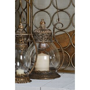 Traditional Ornate Metal And Glass Lantern