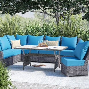 Valentin 8 Piece Sunbrella Sectional Seating Group with Cushions by Laurel Foundry Modern Farmhouse