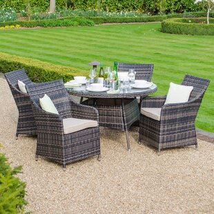 Richelle 4 Seater Dining Set With Cushions Image