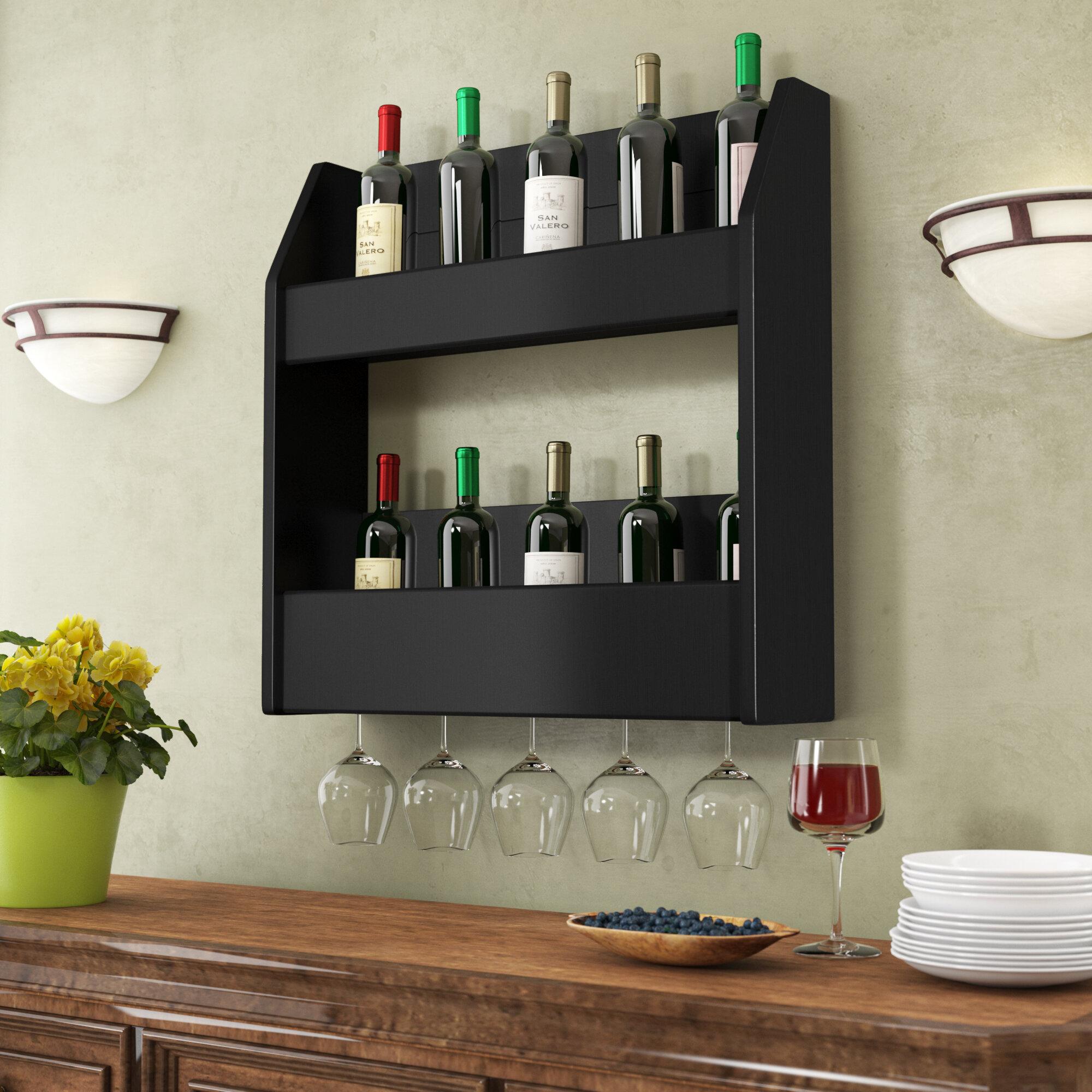 Support A Bouteille De Vin Mural casier à vin mural de 24 bouteilles kinard