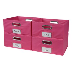 Niche Cubo Half-Size Foldable Fabric Storage Bin (Set of 4) by Regency
