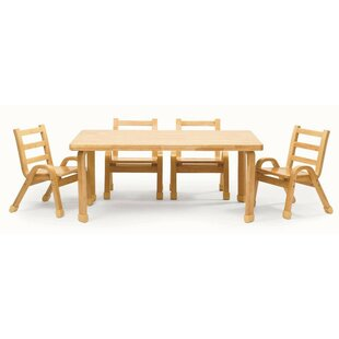 NaturalWood 12\ Toddler Table Chairs | Wayfair