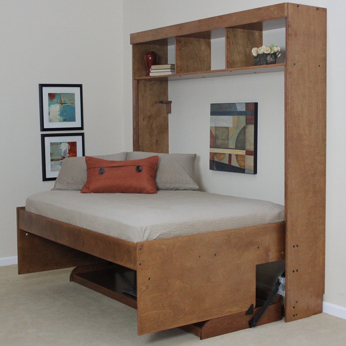 mattress queen desk pin wonderful trundle murphy beds with bed wall