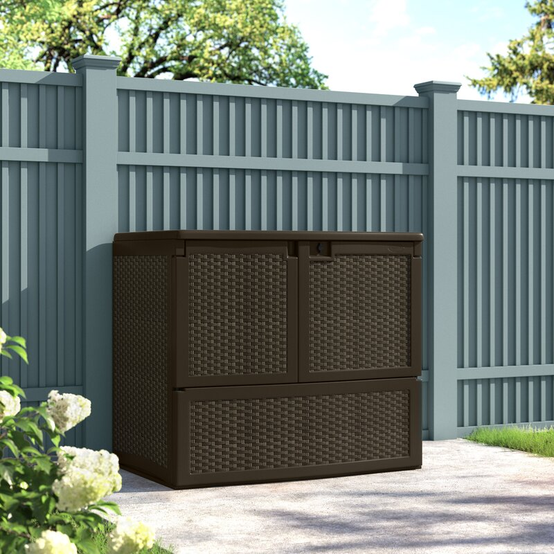 Suncast Outdoor Java 4 ft. W x 2 ft. 7 in. D Horizontal Storage Shed