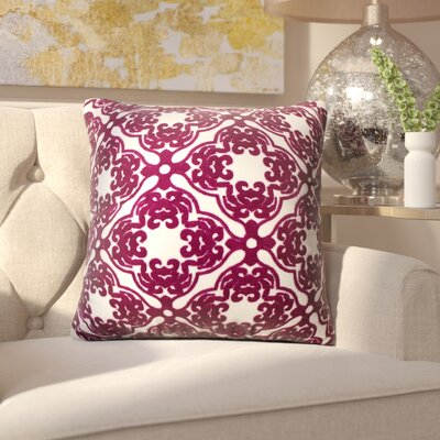 House of Hampton Brockman Morroccan Throw Pillow Colour: Pink