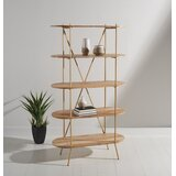 Kindell 62.99 H x 35.43 W Metal Etagere Bookcase by Safavieh Couture