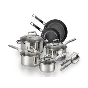 Precision 12 Piece Non-Stick Stainless Steel Cookware Set