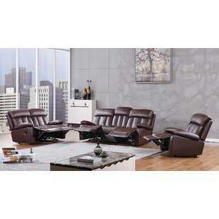 Dunbar Reclining 3 Piece Living Room Set by American Eagle International Trading Inc.