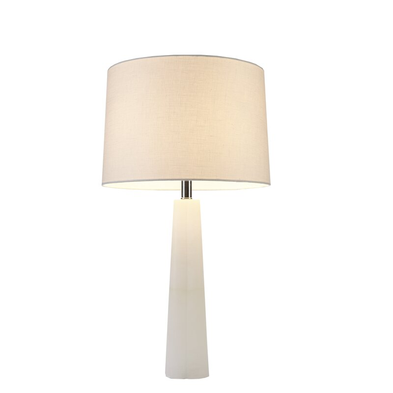 "Calla 27.5"" Table Lamp #midcenturymodern #white #lamp"