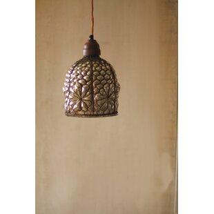 Modern mercury glass pendant lighting allmodern arin caged mercury glass mini pendant mozeypictures Choice Image