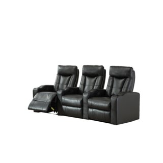 Air Home Theater Sofa (Row of 3) by Ebern Designs SKU:BC946534 Buy