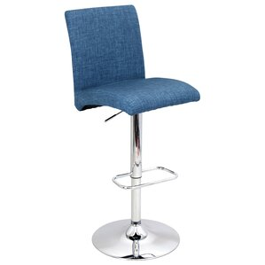 Jilliann Adjustable Height Swivel Bar Stool by Orren Ellis