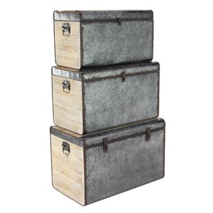 17 Stories Dorrian Trunk (Set of 3)