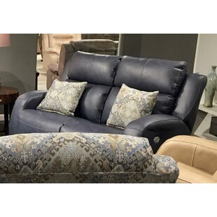 Grand Slam Leather Reclining Loveseat by Southern Motion