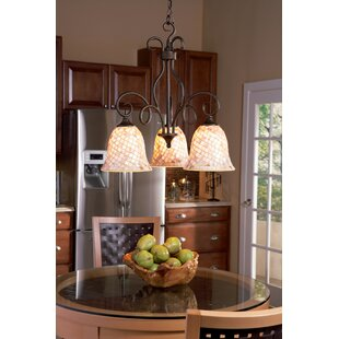 Price comparison Frangipani 3-Light Shaded Chandelier By Beachcrest Home