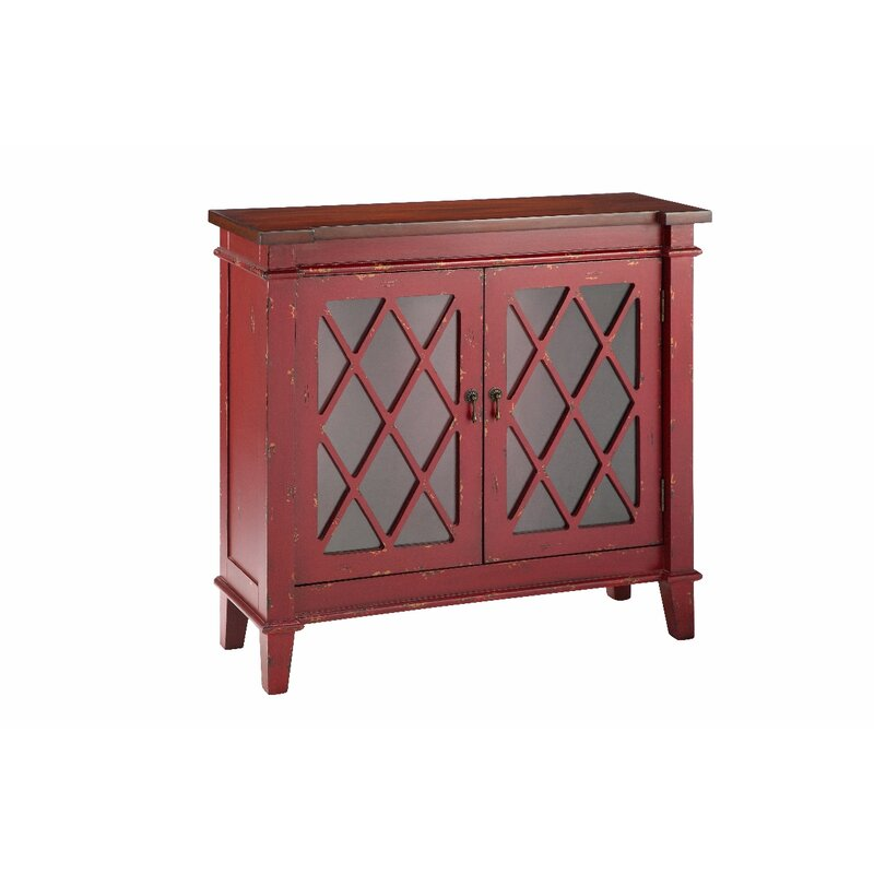 August Grove Cliffo Cabinet With Glass Doors Accent Cabinet Wayfair