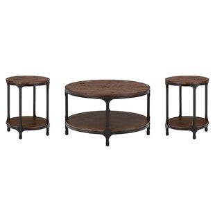 Laurel Foundry Modern Farmhouse Carolyn 3 Piece Coffee Table Set