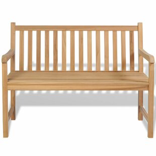 Yateley Outdoor Teak Bench by Breakwater Bay Great Reviews