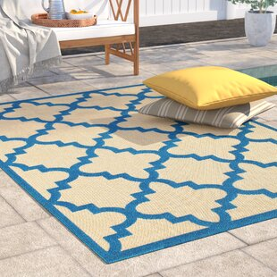Barker Sand/Blue Indoor/Outdoor Area Rug