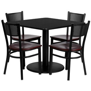 Ashwini 5 Piece Dining Set Red Barrel Studio