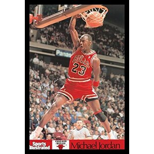 'Michael Jordan - Sports Illustrated Dunk' Framed Photographic Print by Buy Art For Less