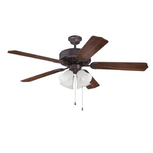 Price comparison 52 Holmstrom 5 Hand-Scraped Blade Ceiling Fan By Alcott Hill