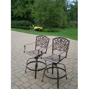 Mississippi Swivel Patio Bar Stool (Set of 2) by Oakland Living