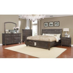 Gracie Oaks Mapes Queen Sleigh 4 Piece Bedroom Set