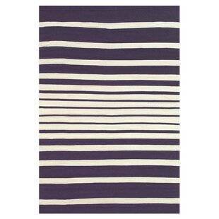 Roger Hand Woven Purple/White Indoor/Outdoor Area Rug