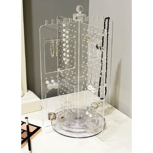 Coupon Acrylic Rotating Earring Holder Jewelry Stand By Rebrilliant