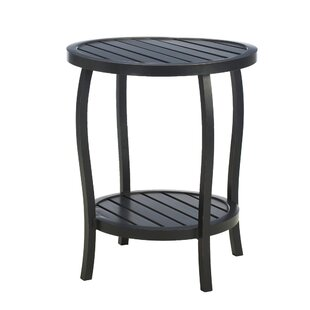 Cottage Wrought Aluminum Side Table